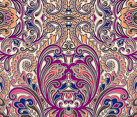 Splish splash 3D paisley fabric by whimzwhirled on Spoonflower - custom fabric