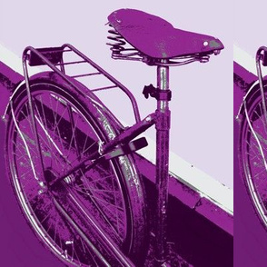 purple dutch bike