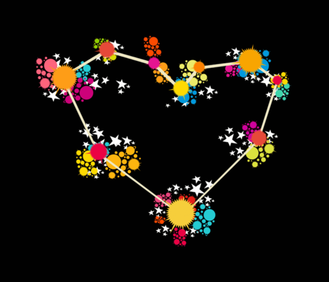Love-constelation fabric by carlosalguien on Spoonflower - custom fabric