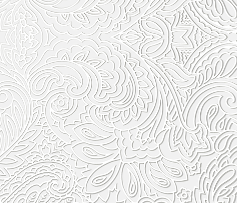 white on white 3Dpaisley fabric by whimzwhirled on Spoonflower - custom fabric