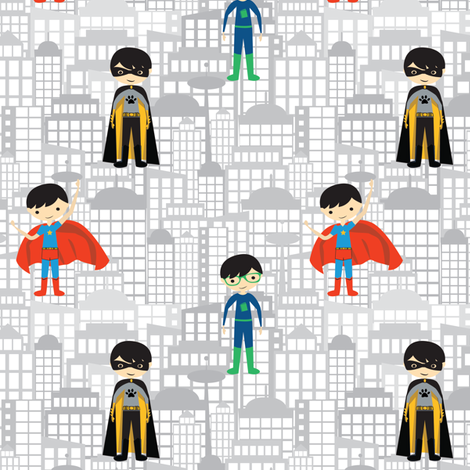 Superboys fabric by witee on Spoonflower - custom fabric