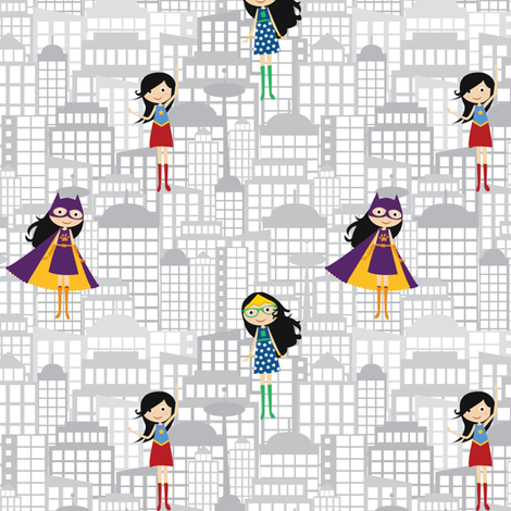 Supergirls fabric by witee on Spoonflower - custom fabric