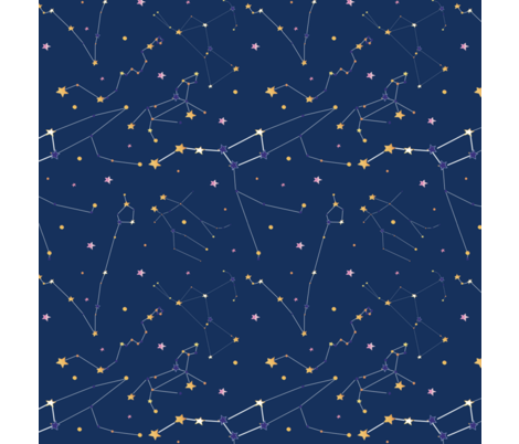Constellations4 fabric by chlobell on Spoonflower - custom fabric