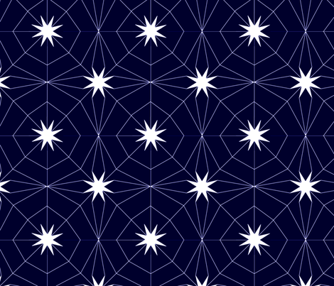 Spiderstar fabric by cousaspequenas on Spoonflower - custom fabric