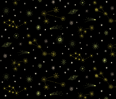 Star Chart 24 | Constellations fabric by imaginaryanimal on Spoonflower - custom fabric