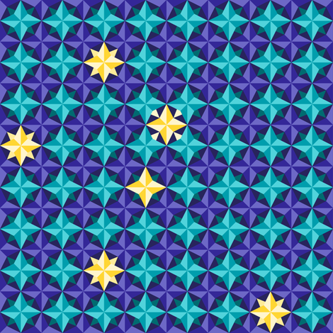 Jewels of the Southern Sky fabric by rhondadesigns on Spoonflower - custom fabric