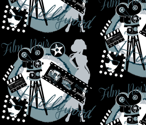 Film Noir Murder in Paris  fabric by paragonstudios on Spoonflower - custom fabric