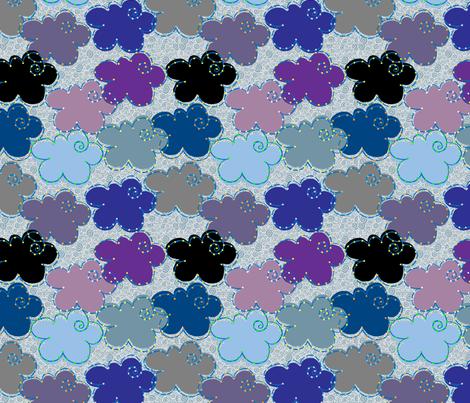 Cloudstellations fabric by dwdesigns on Spoonflower - custom fabric