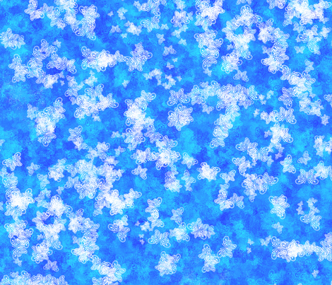 Butterfly Ice fabric by siya on Spoonflower - custom fabric