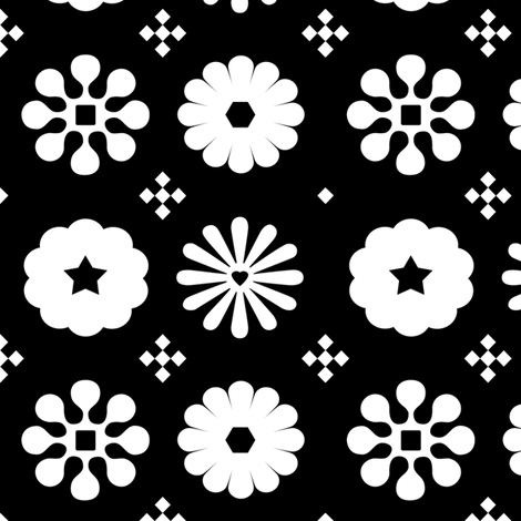 Flowers 5 inch inversed fabric by carbonatedcreations on Spoonflower - custom fabric