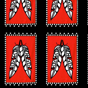 Eagle and Raven Feathers