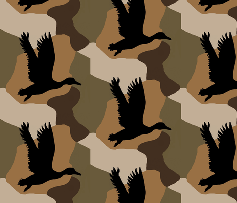 Duck Camo small fabric by paragonstudios on Spoonflower - custom fabric
