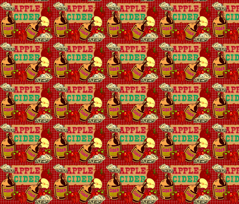 APPLE PIE AND OTHER DELIGHTS fabric by bluevelvet on Spoonflower - custom fabric