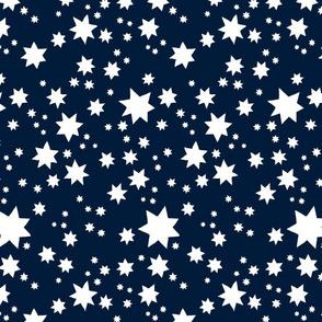 Stars Navy and white