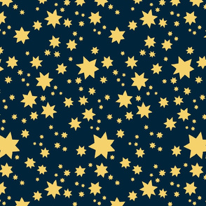 Stars Navy and Butter