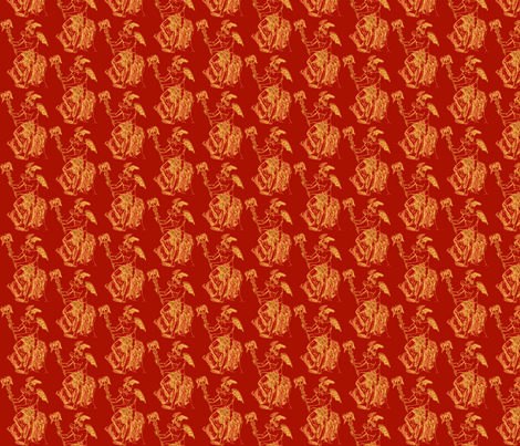 Turkey Red Hermes  fabric by amyvail on Spoonflower - custom fabric