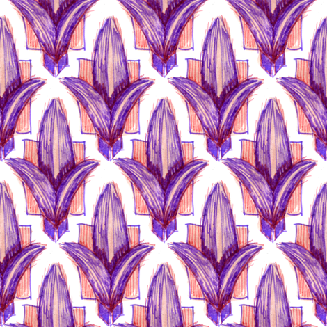 Fleur de Lis purple fabric by crumpetsandcrabsticks on Spoonflower - custom fabric