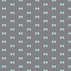 Staggared Bows mint and Grey