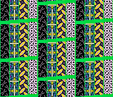 mixed geo strips fabric by ann-dee on Spoonflower - custom fabric