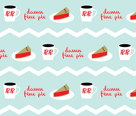 Twin Peaks- Damn Fine Pie fabric by roseandpistachiopress on Spoonflower - custom fabric