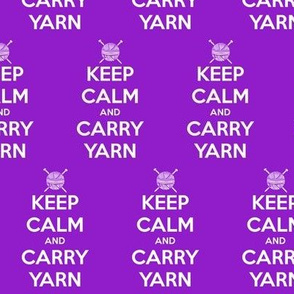 Keep Calm Carry Yarn Knitting - purple solid