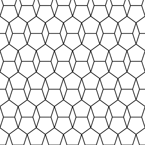 pentagon and rhombus fabric by sef on Spoonflower - custom fabric
