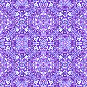 Black Crow Purple Kaleidoscope Pattern 1