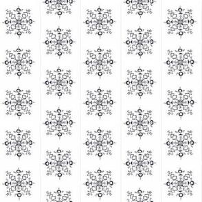 Classic Black and White Snowflake Kaleidoscope_24