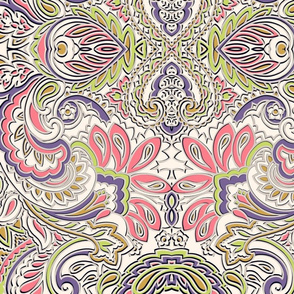 I'm so pretty 3D paisley