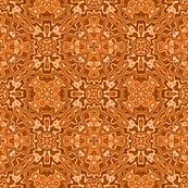 Black Crow, Rusty Orange Kaleidoscope Pattern B