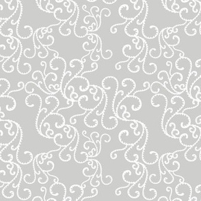 gray with white vine