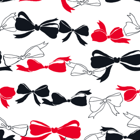 bows_final_red_bk fabric by lpt-workshop on Spoonflower - custom fabric