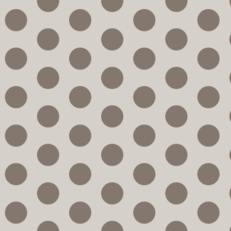 dropped_dots_mocha fabric by lpt-workshop on Spoonflower - custom fabric