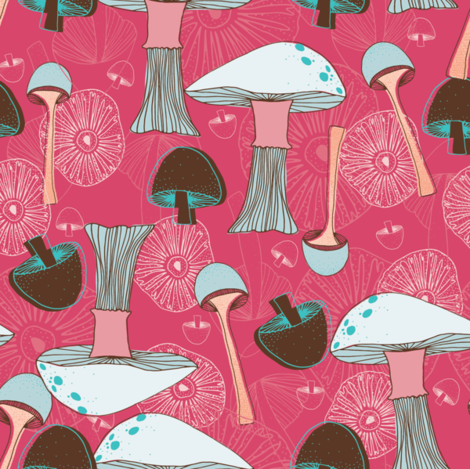 Feeling Fungi fabric by verysarie on Spoonflower - custom fabric