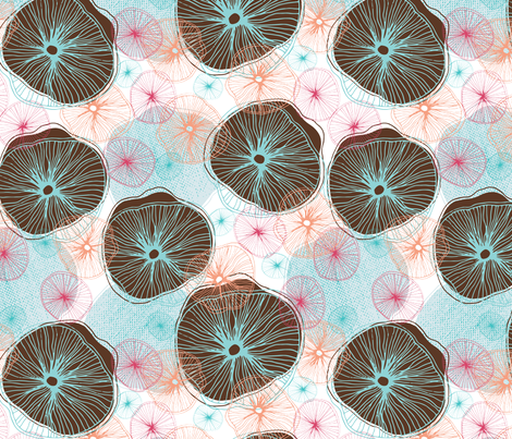 Dancing Mushrooms fabric by verysarie on Spoonflower - custom fabric