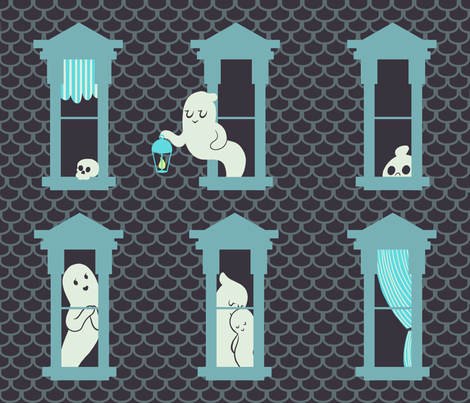 Victorian Ghosties fabric by dreahatch on Spoonflower - custom fabric