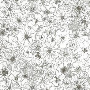 Pencil Garden Sketch