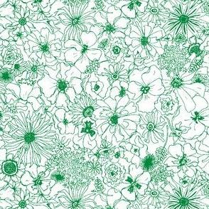 Green flower sketch