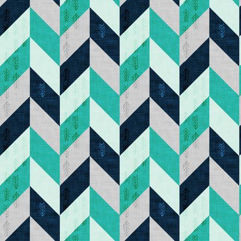 Desert Chevron (Aqua SMALL) fabric by nouveau_bohemian on Spoonflower - custom fabric