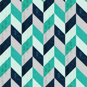 Desert Chevron (Aqua SMALL)