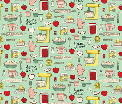 Let's Make Apple Pie fabric by annewashere on Spoonflower - custom fabric