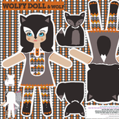wolfy doll DIY cut and sew template