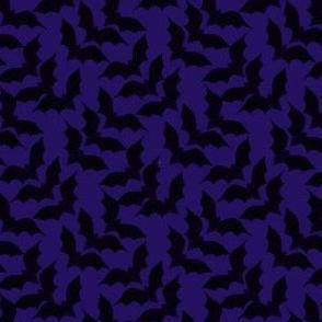 Bats Tweed on Purple