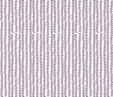 Running Stitch | Aubergine Purple fabric by kennerroad on Spoonflower - custom fabric