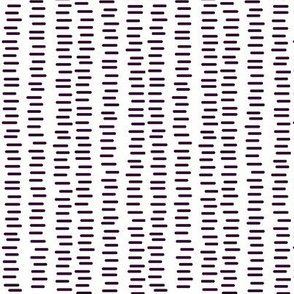 Running Stitch | Aubergine Purple