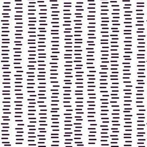 Running Stitch | Aubergine Purple