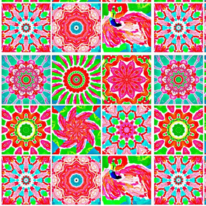 Flamingo Kaleidoscope Quilt