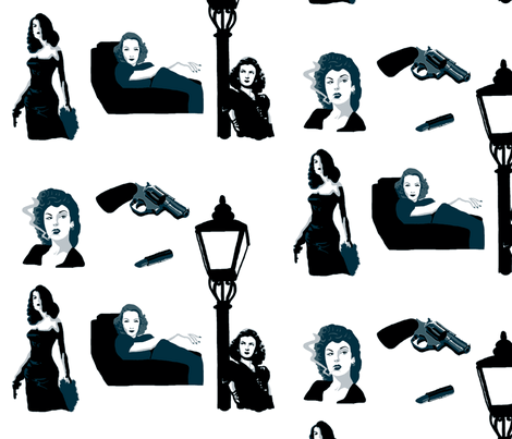 Femme Fatale fabric by kmsupply on Spoonflower - custom fabric