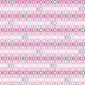 XOXO : pink + grey : small