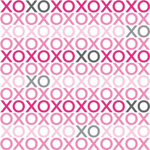 XOXO : pink + grey : big